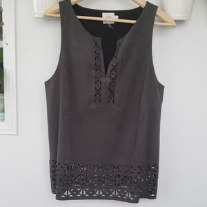hd in pairs faux suede tank top